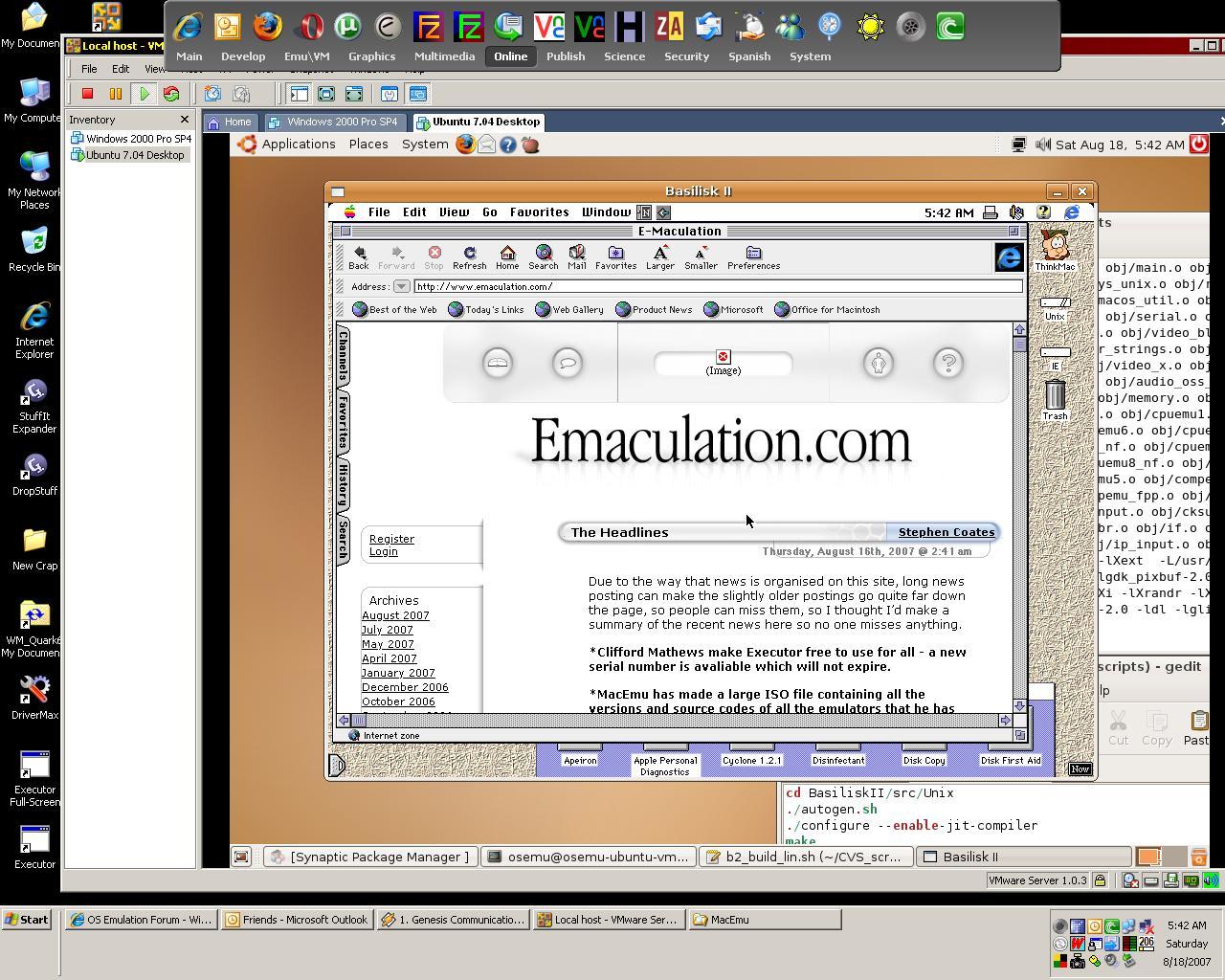 E-Maculation • Mac on Linux on Windows Screenshot - Basilisk II