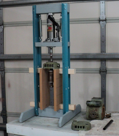 machine shop press bearing