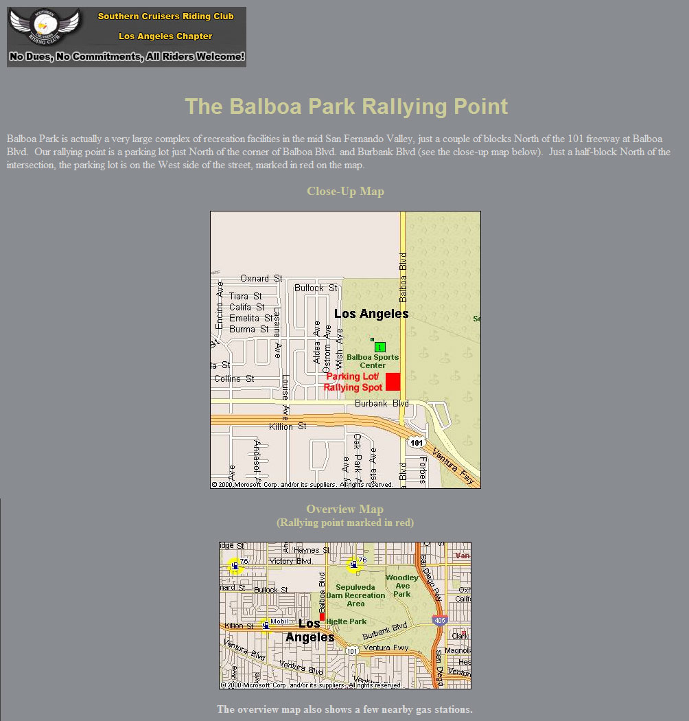 SCRC Los Angeles Chapter - Los angeles map porter ranch